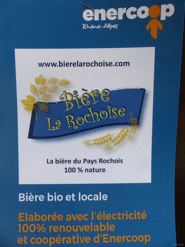 Bière La Rochoise produite avec une énergie verte