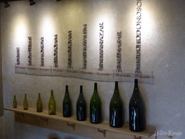 Les diverses bouteilles des vins de la cave de chautagne